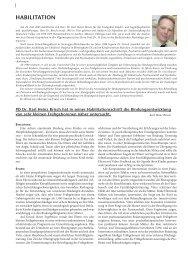 HABILITATION - Hauner Journal