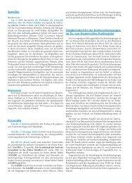 Spenden Personalia Tätigkeitsbericht der ... - Hauner Journal