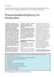Pneumokokkenimpfung im Kindesalter - Hauner Journal