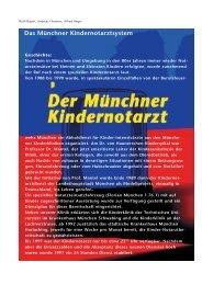 Das Münchner Kindernotarztsystem - Hauner Journal