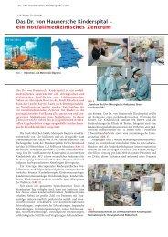 Das Dr. von Haunersche Kinderspital – ein ... - Hauner Journal