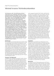 Minimal invasive Trichterbrustkorrektur - Hauner Journal