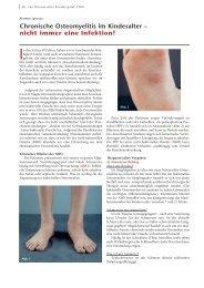 Chronische Osteomyelitis im Kindesalter – nicht ... - Hauner Journal
