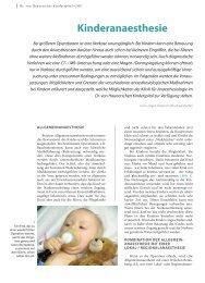 Kinderanaesthesie - Hauner Journal