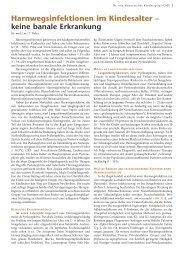 Harnwegsinfektionen im Kindesalter – keine ... - Hauner Journal
