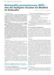 Retinopathia praematurorum (ROP) – eine der ... - Hauner Journal
