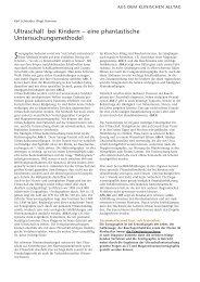 Ultraschall bei Kindern – eine phantastische ... - Hauner Journal