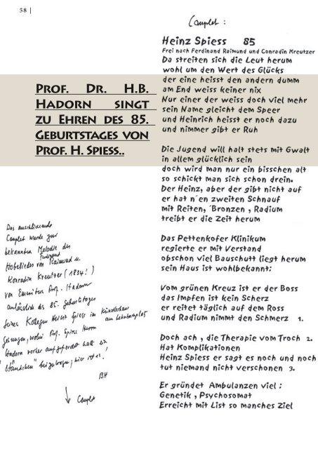 Prof. Dr. H.B. Hadorn singt zu Ehren des 85 ... - Hauner Journal