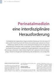 eine interdisziplinäre Herausforderung - Hauner Journal