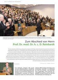 prof. Dr. med. Dr. h. c. D. Reinhardt - Hauner Journal
