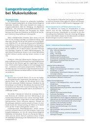 Lungentransplantation bei Mukoviszidose - Hauner Journal