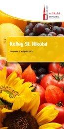 Programmheft Kolleg St. Nikolai 2. Halbjahr 2013 - Hauptkirche St ...