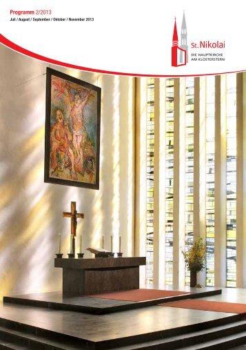 Programm 2/2013 - Hauptkirche St. Nikolai