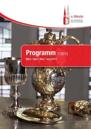 Programm 1/2013 - Hauptkirche St. Nikolai