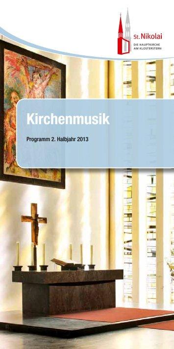 Kirchenmusik - Hauptkirche St. Nikolai