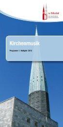 Kirchenmusik an der Hauptkirche St. Nikolai
