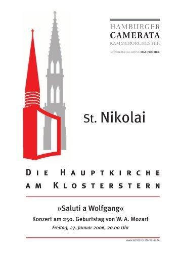Saluti a Wolfgang - Hauptkirche St. Nikolai