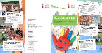 Flyer ? Ev. Kindergarten St. Nikolai - Hauptkirche St. Nikolai