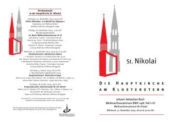 Johann Sebastian Bach: Weihnachtsoratorium - Hauptkirche St ...