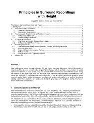 Principles in Surround Recordings with Height - Hauptmikrofon.de ...