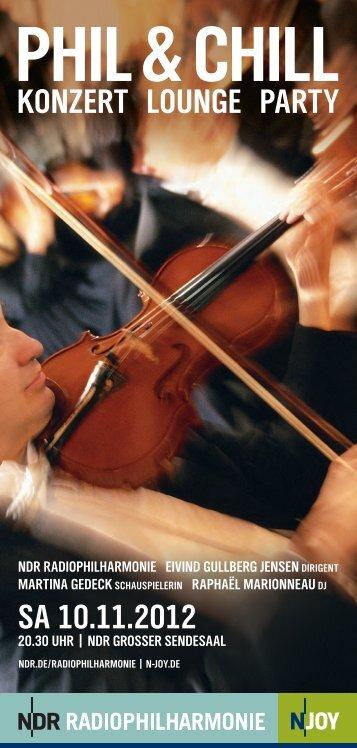 SA 10.11.2012 KONZERT LOUNGE PARTY - Hauptsache Musik