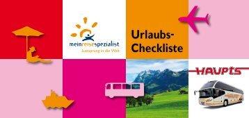 Urlaubs-Checkliste - Claus Haupts GmbH