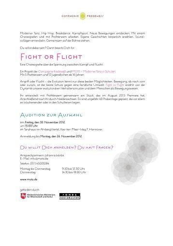 Bewerbung Ausschreibung FoF Audition - Hauptsache Musik