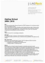 HipHop School Werbung 2010 - Hauptsache Musik