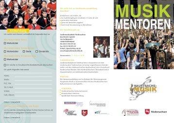 MENTOREN - Hauptsache:Musik Niedersachsen