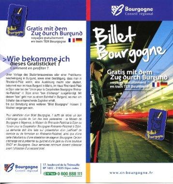 Billet Bourgogne - Haus Burgund