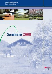 Seminare 2008 - Haus Brannenburg