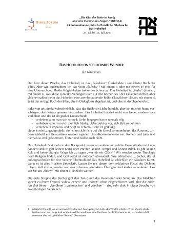 Jan Fokkelman: Das Hohelied - Haus Ohrbeck