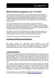 Mietrechtsreform 2013 (RA Christian Geppert) - Haus & Grund ...