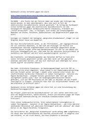 Bundesweit erstes Verfahren gegen die eCard http://www.stoppt-die ...