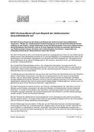 NAV-Virchow-Bund ruft zum Boykott der elektronischen ...