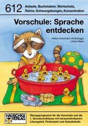Vorschule: Sprache entdecken - Hauschka Verlag
