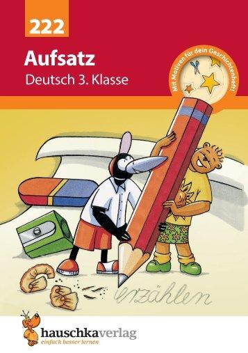 Aufsatz 3. Klasse - Hauschka Verlag