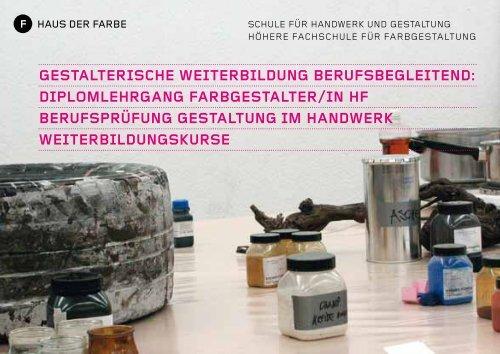 Infoabende 2011/12 (PDF) - Haus der Farbe
