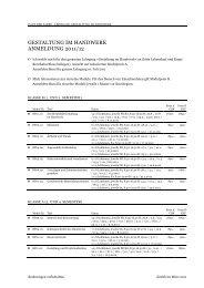 gestaltung im handwerk anmeldung 2011/12 - Haus der Farbe