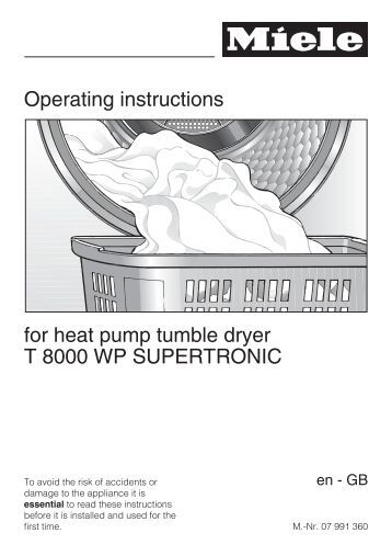 Miele Heat Pump Dryer Manual