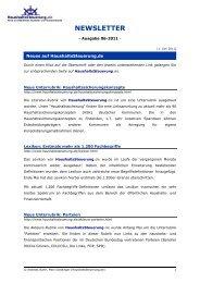 Newsletter - Ausgabe 06-2011 - HaushaltsSteuerung.de