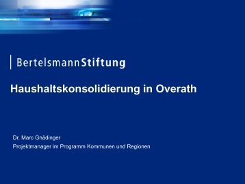 Haushaltskonsolidierung in Overath - HaushaltsSteuerung.de