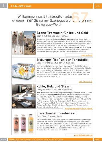 Willkommenzum 67.nite.site.radar mit neuen Trends aus der - brand.m