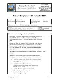 Protokoll Energiegruppe vom 1. September 2009