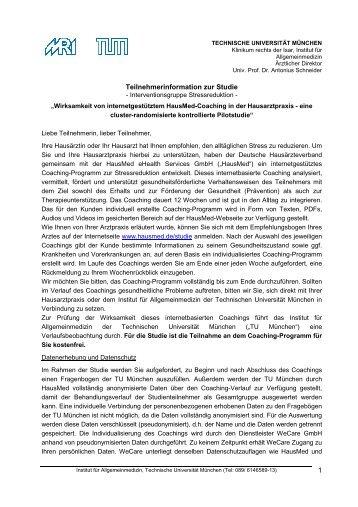 Teilnahmeerklärung Stressfrei - HausMed