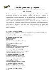 """""""...Auf den Spuren von C. G. Langhans"""" - Haus Schlesien"""