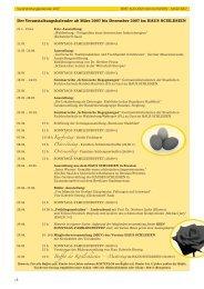 Der Veranstaltungskalender ab März 2007 bis ... - Haus Schlesien