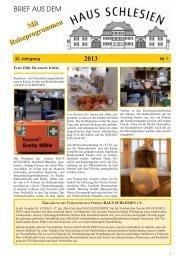 Download als PDF-Datei - Haus Schlesien