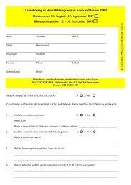 Anmeldung zu den Bildungsreisen nach Schlesien ... - Haus Schlesien