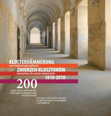 klosterdämmerung zmierzch klasztorów 1810-2010 - Säkularisation ...